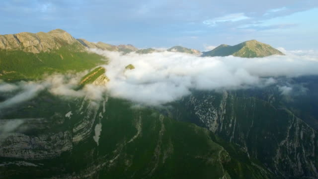 aerial view above the clouds video