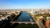 Aerial View Above The London City Of Westminster video