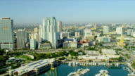 Aerial view Bayside Marketplace, Miami video