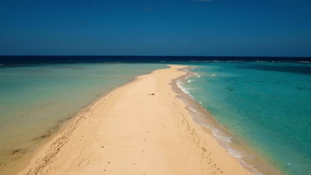 Aerial view beautiful beach on tropical island. Camiguin island Philippines video