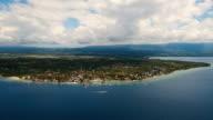 Aerial view beautiful beach on tropical island. Cebu island Philippines video
