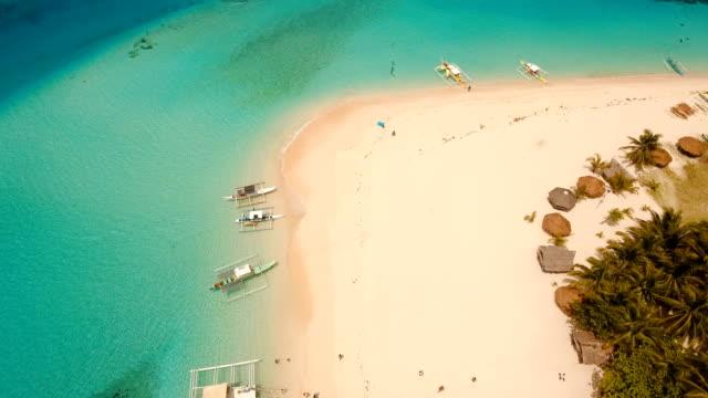 Aerial view beautiful beach on tropical island. Daco island, Philippines, Siargao video