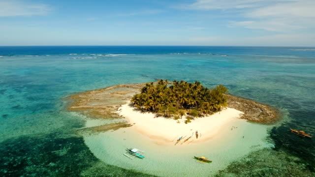 Aerial view beautiful beach on tropical island. Guyam island, Philippines, Siargao video