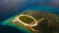 Aerial view beautiful beach on tropical island. Mantigue island Philippines video