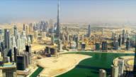 Aerial view Burj Khalifa Dubai Creek Dubai video