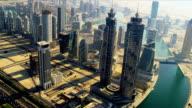 Aerial view Burj Khalifa,  Dubai video