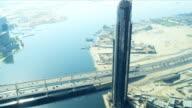 Aerial view Business Bay Bridge, Dubai video