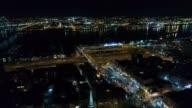 Aerial View Center City Philadelphia & Surrounding Area at Night video