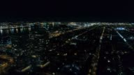 Aerial View Center City Philadelphia & Surrounding Area at Night video