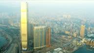 Aerial View China Ferry Terminal, Hong Kong video