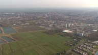 Aerial view city or small village, part 2 video