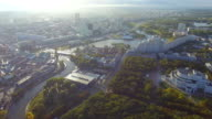 Aerial view, cityscape of Minsk video