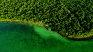Aerial view clear coastal  waters, Southern USA video