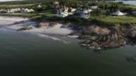 Aerial View, coastal mansions video