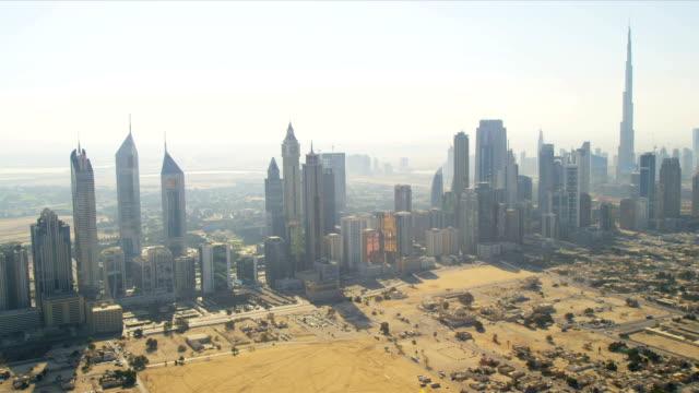 Aerial view cosmopolitan downtown Dubai video
