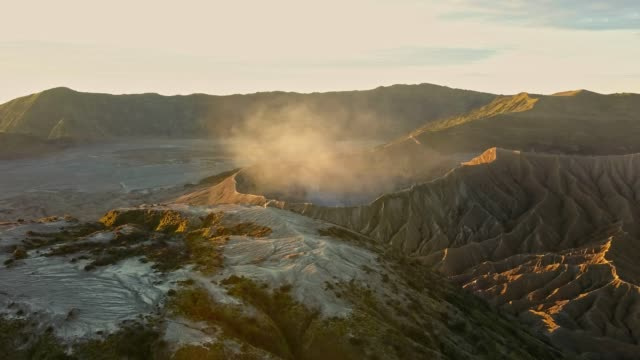 4K : Aerial view crater of Bromo volcane, East Java, Indonesia video