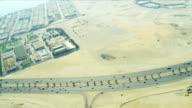 Aerial view desert expressway   Dubai video
