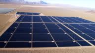 Aerial view desert Solar Energy Farm, USA video