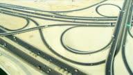Aerial view expressway Dubai video