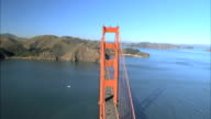 Aerial View Flying Over Golden Gate Bridge video