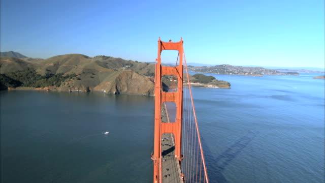 Aerial View Flying Over Golden Gate Bridge video