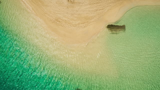 Aerial View Flying over Ocean Reef and Waves video