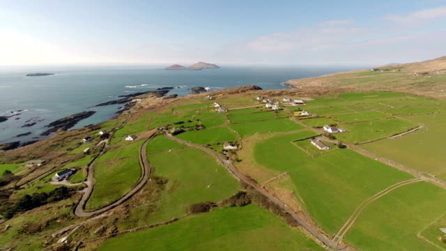 Aerial view from a drone: Ring of Kerry Ireland video