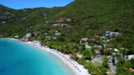 Aerial view from Cane Garden Bay, Tortola video