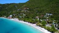 Aerial view from Cane Garden Bay, Tortola video