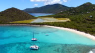 Aerial view from Smuggler's Cove, Tortola video