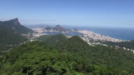 Aerial view from the mountain where is located the Cristo Redentor (corcovado) in Rio do Janeiro video