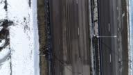 Aerial view highway video