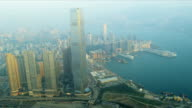 Aerial View International Commerce Centre, Kowloon video