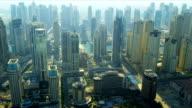 Aerial view Jumeirah Beach, Dubai video