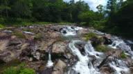 Aerial view kra chong Waterfall, Trang south Thailand video