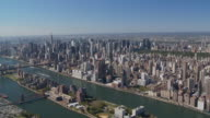 aerial view manhattan east river video