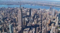 aerial view midtown manhattan II video