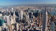 aerial view midtown manhattan long island city video
