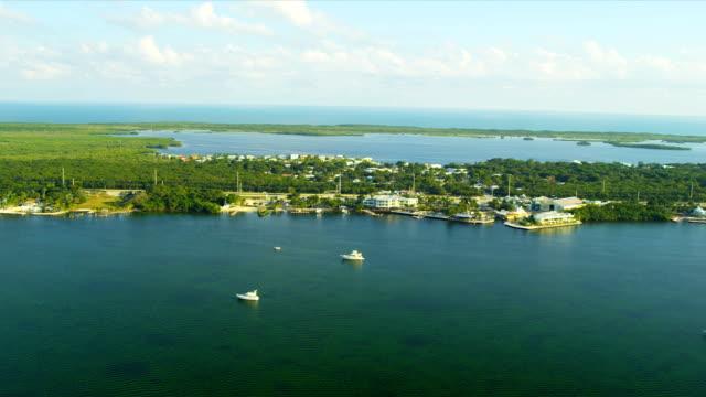 Aerial view North Key Largo nr Miami, USA video
