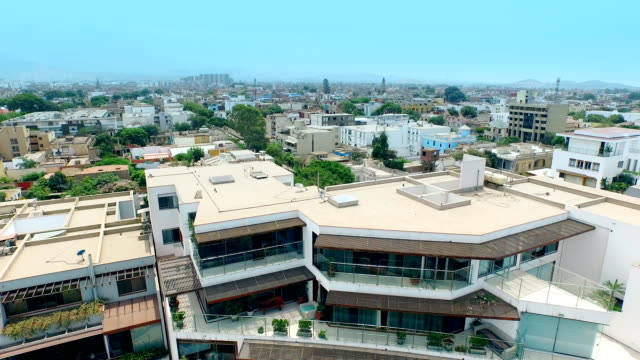 Aerial view of a peruvian cityscape video