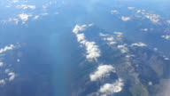 Aerial View Of A Skinny Lake In Canadian Rocky Mountains video