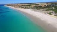 Aerial view of Adelaide Beach Port Willunga video