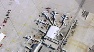 Aerial view of an airport terminal video