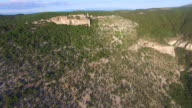 Aerial view of an old hilltop town Lubenice, Croatia video