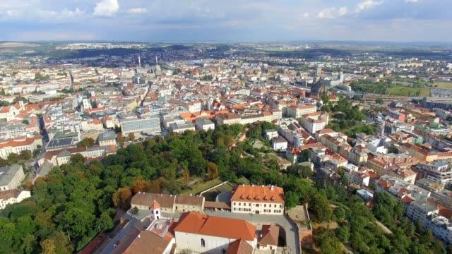 Aerial view of ancient castle Spilberk video