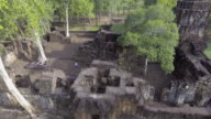 Aerial View of Angkor Castle video