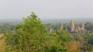 Aerial view of Angkor Wat Temple, Siem Reap, Cambodia video