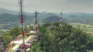 Aerial View of Antenna Communication video
