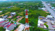 Aerial View of Antenna Tower with orbit shot video