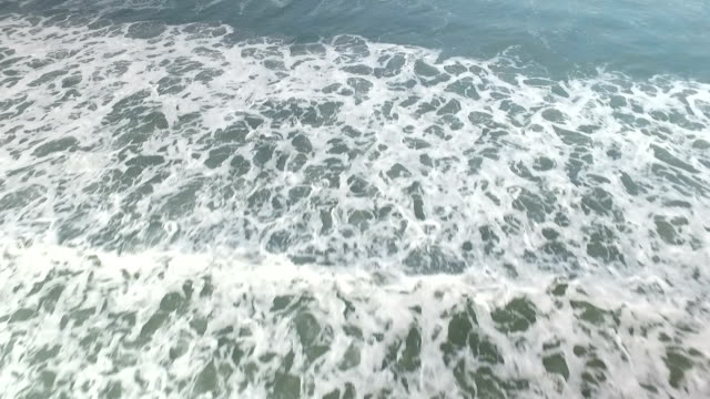 Aerial view of beach and sea in Thailand video
